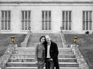 Woman & Man on steps
