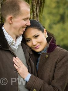 Man & Woman embracing