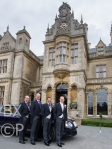 Kevin and his team in front of Stoke Rochford Hall
